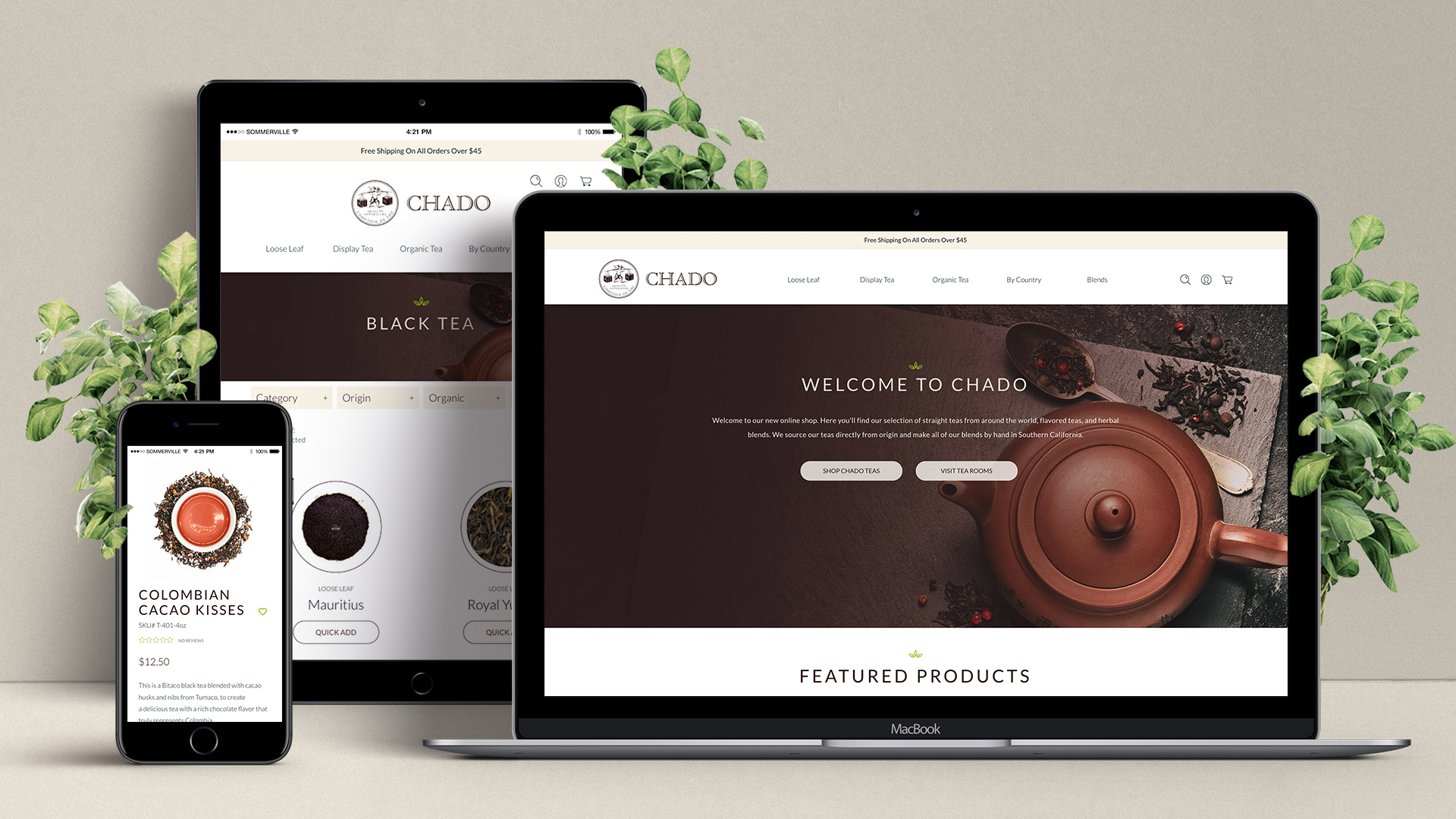 Chado Tea Responsive Ecommerce Website