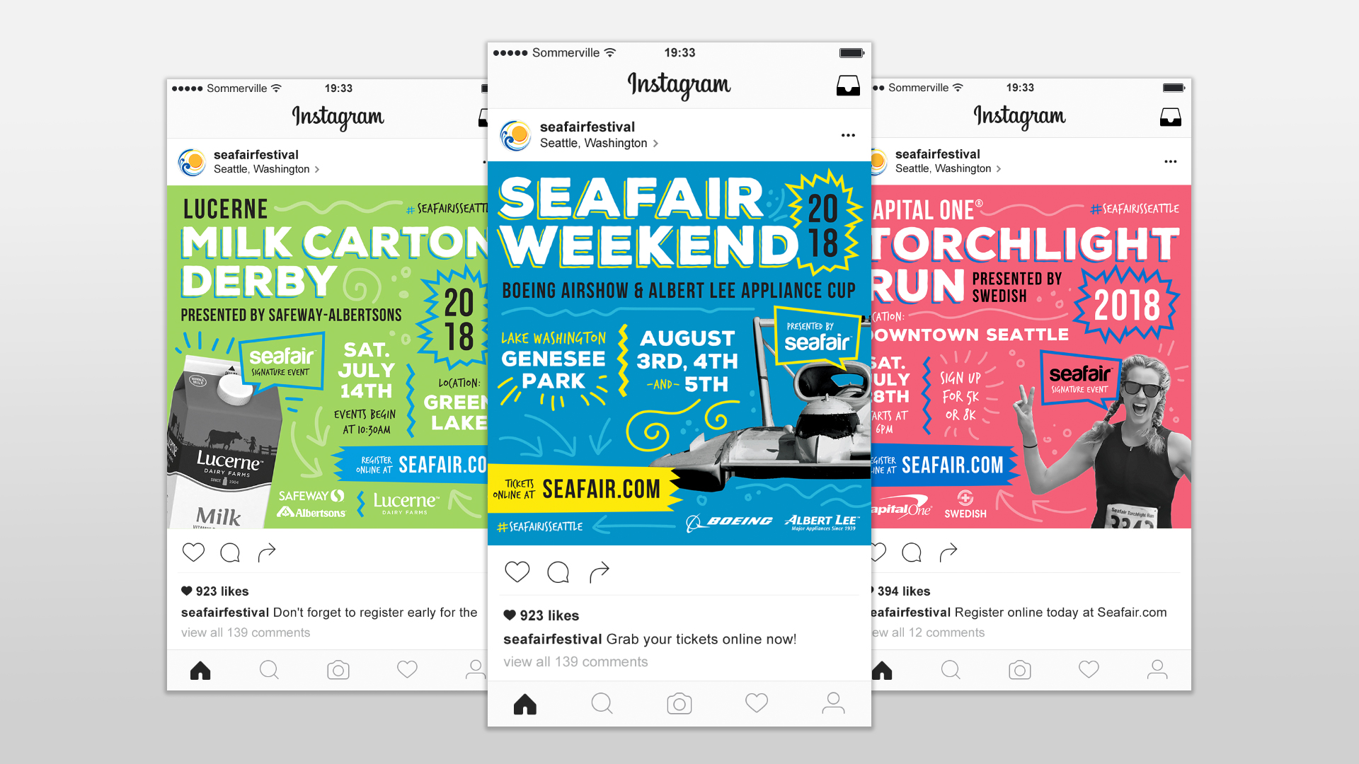 Seafair Weekend Instagram Graphics