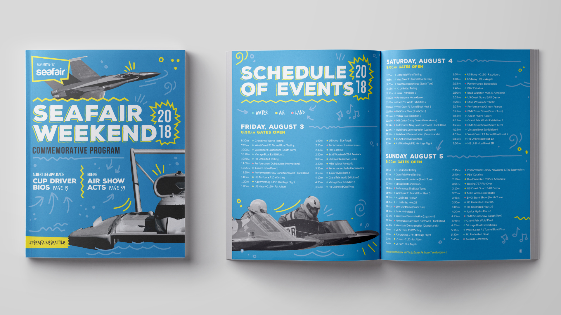 Seafair Weekend Commemorative Program Cover and Schedule of Events