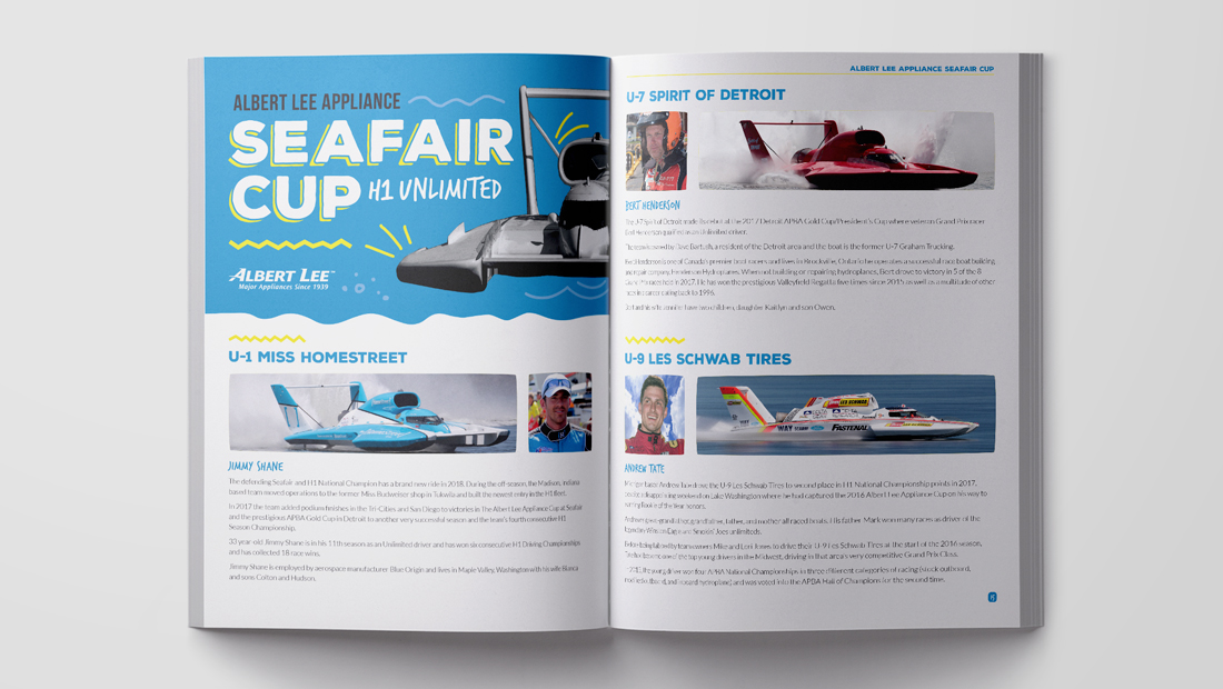 Seafair Weekend Commemorative Program Driver Page