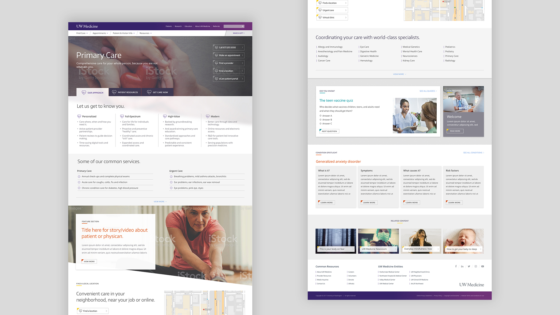 UW Medicine Primary Care Desktop Layout
